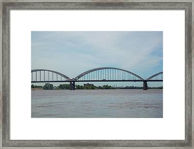 Centennial Bridge Spanning Framed Print by Panoramic Images