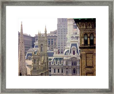 Center City Philadelphia Framed Print by Cynthia Harvey