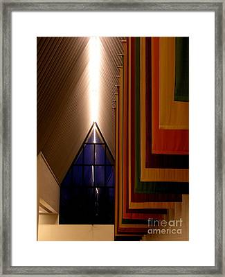 Center For The Arts - Muhlenberg College Framed Print by Jacqueline M Lewis