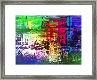 Center For Wooden Boats Cubed 1 Framed Print