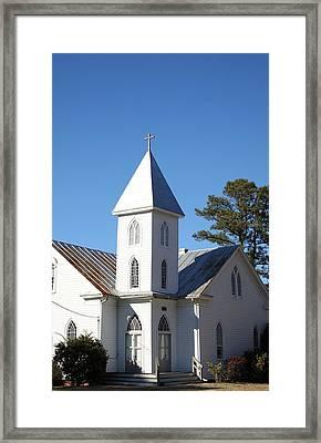 Center Hill United Methodist Church Framed Print by Carolyn Ricks