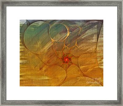 Center Of A Cyclone Framed Print