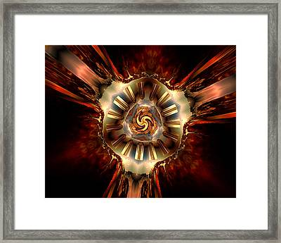 Center Of Authority Framed Print by Claude McCoy