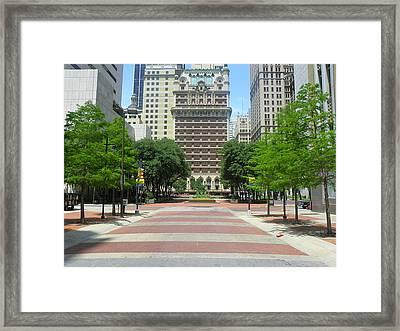 Center Of Dallas  Framed Print by Jonathan Jobickson