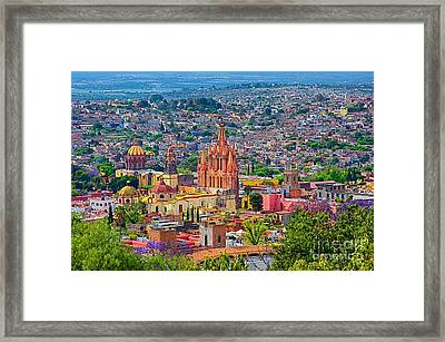 Center Of San Miguel De Allende Framed Print