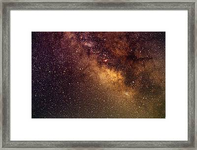 Center Of The Milky Way Framed Print by Alan Vance Ley