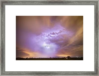 Center Of The Storm Framed Print