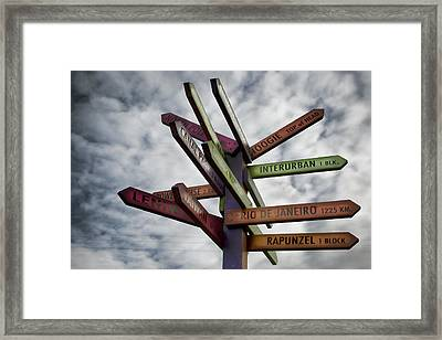 Center Of The Universe Framed Print by Joanna Madloch