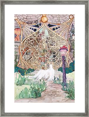 Center Of The World Framed Print by Maya Simonson