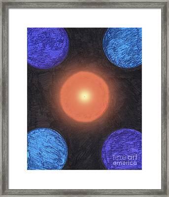 Center Orbit Framed Print