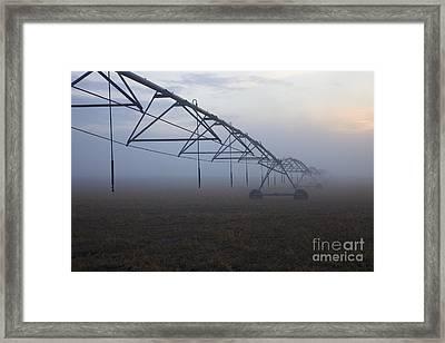 Center-pivot Irrigation Framed Print by Mike  Dawson