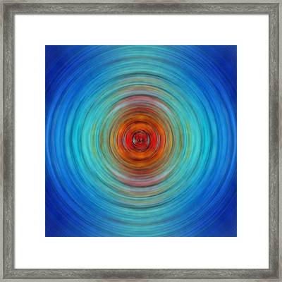 Center Point - Abstract Art By Sharon Cummings Framed Print by Sharon Cummings