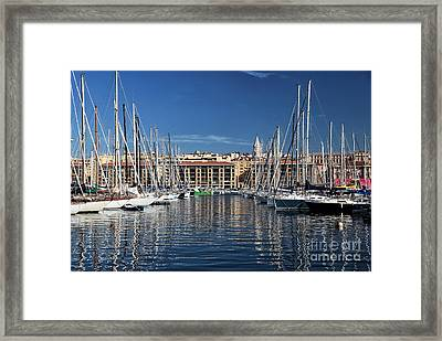 Centered In The Port Framed Print