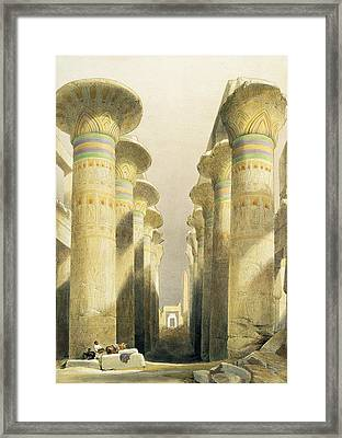 Central Avenue Of The Great Hall Of Columns Framed Print by David Roberts