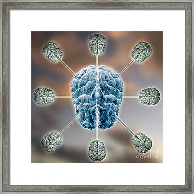 Central Brain Framed Print by Mike Agliolo