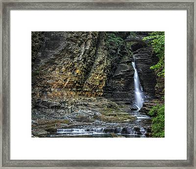 Central Cascade Framed Print by Bill Wakeley