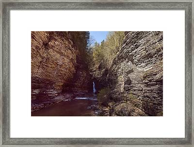 Central Cascade Color Framed Print by Joshua House