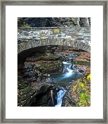 Central Cascade Framed Print by Frozen in Time Fine Art Photography