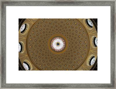 Central Dome, The City Hall, Opened Framed Print