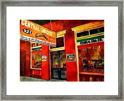 Central Grocery Framed Print by Jill Jacobs