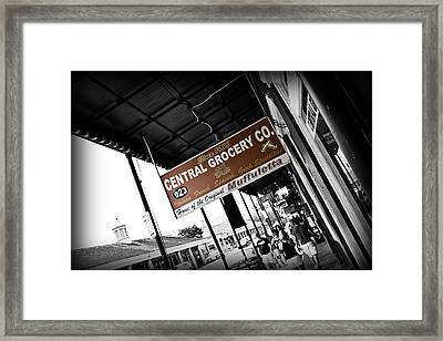 Central Grocery Framed Print by Scott Pellegrin