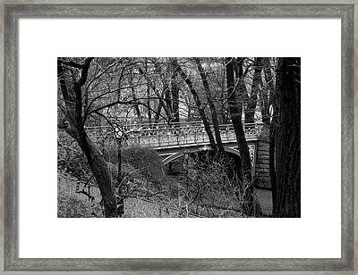 Central Park 2 Black And White Framed Print by Chris Thomas