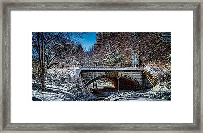 Central Park After Nemo Framed Print by Chris Lord