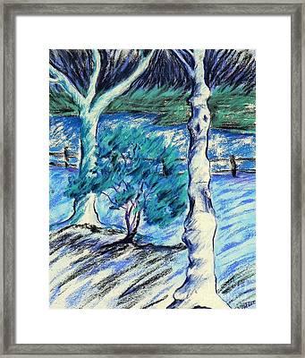 Central Park Blues Framed Print by Elizabeth Fontaine-Barr