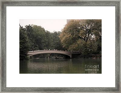 Central Park Bow Bridge Framed Print by David Bearden