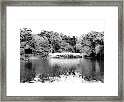 Framed Print featuring the photograph Central Park Bridge by Justin Lee Williams