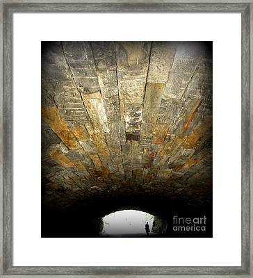 Central Park Bridge Framed Print by Maria Scarfone