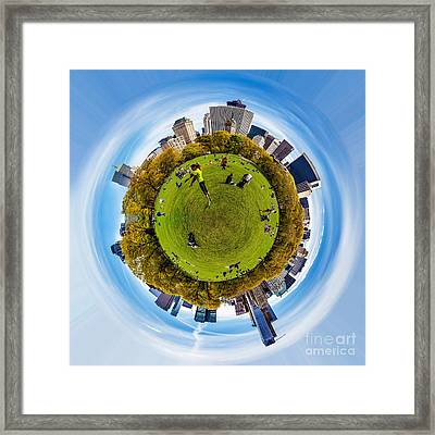 Central Park Circagraph  Framed Print by Az Jackson