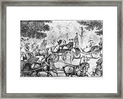 Central Park Driving Framed Print by Granger