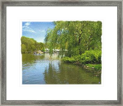 Central Park In May 2 Framed Print by Muriel Levison Goodwin