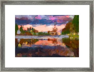 Central Park In Moscow Framed Print by Yury Malkov