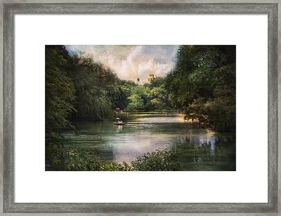 Central Park Lake Framed Print