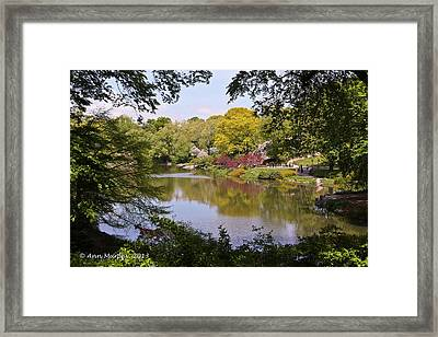Framed Print featuring the photograph Central Park Landscape by Ann Murphy