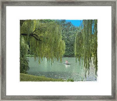 Central Park Lazy Afternoon Framed Print by Muriel Levison Goodwin