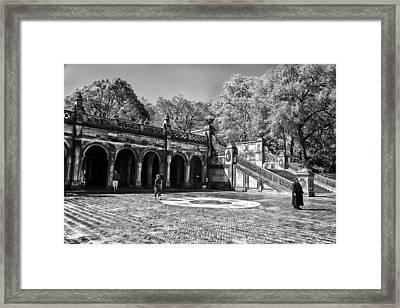Central Park - Near Bethesda Fountain Framed Print by Madeline Ellis