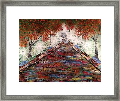 Framed Print featuring the painting Central Park - New York by Michael Rucker
