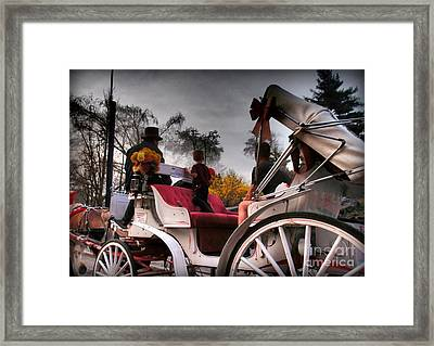 Central Park New York - Romantic Carriage Ride 2 Framed Print by Miriam Danar