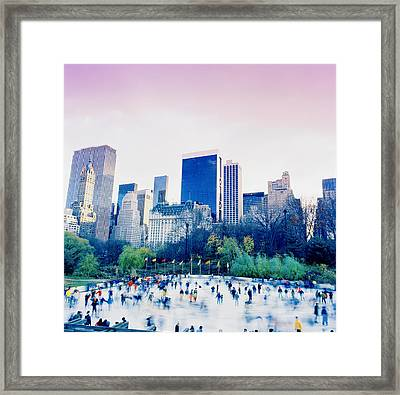 New York In Motion Framed Print by Shaun Higson