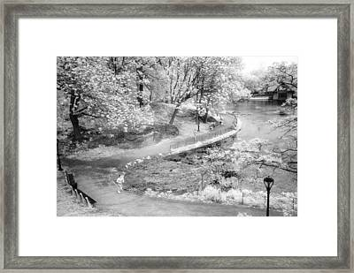 Framed Print featuring the photograph Central Park North Infrared by Dave Beckerman