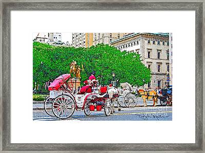 Central Park Ny Framed Print by Art Mantia