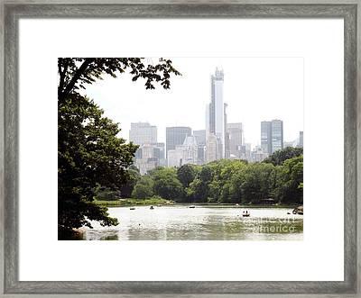 Central Park Pond Framed Print