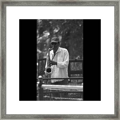 Central Park Sax Framed Print
