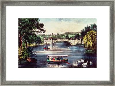 Central Park   The Bridge  Framed Print