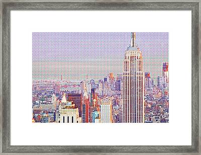 Central Park Top Of The Rock Framed Print