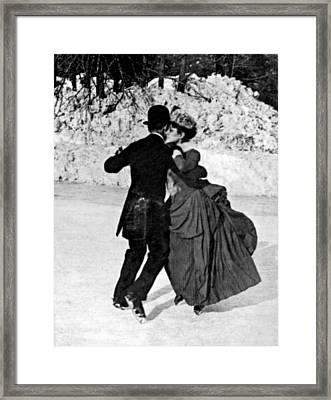 Central Park Victorian Skaters  Framed Print