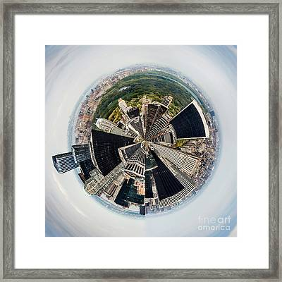 Central Park View Circagraph Framed Print by Az Jackson